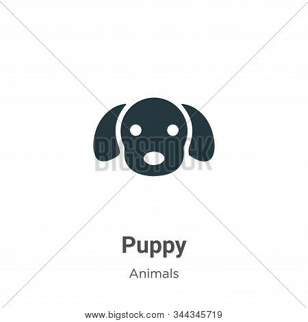Puppy icon isolated on white background from animals collection. Puppy icon trendy and modern Puppy