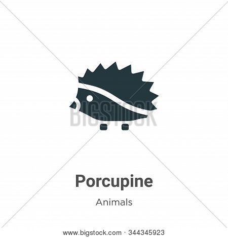 Porcupine icon isolated on white background from animals collection. Porcupine icon trendy and moder