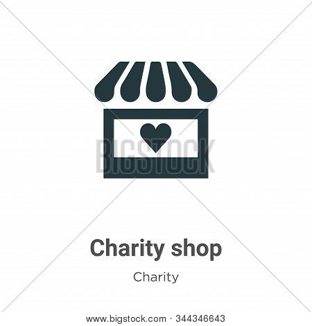 Charity shop icon isolated on white background from charity collection. Charity shop icon trendy and