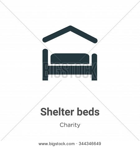 Shelter Beds Vector Icon On White Background. Flat Vector Shelter Beds Icon Symbol Sign From Modern