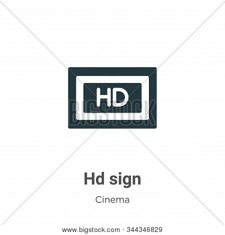 Hd Sign Vector Icon On White Background. Flat Vector Hd Sign Icon Symbol Sign From Modern Cinema Col