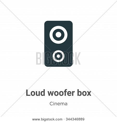Loud Woofer Box Vector Icon On White Background. Flat Vector Loud Woofer Box Icon Symbol Sign From M