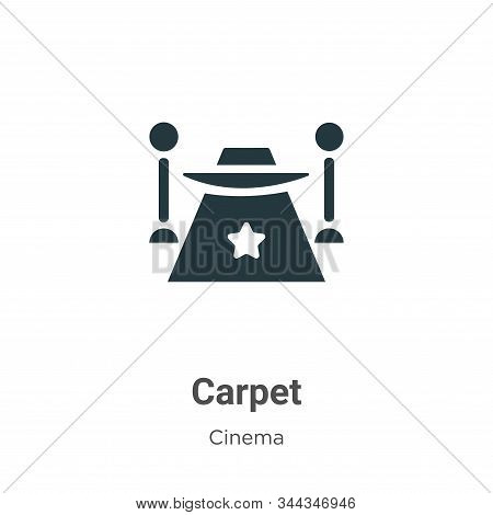 Red carpet icon isolated on white background from cinema collection. Red carpet icon trendy and mode