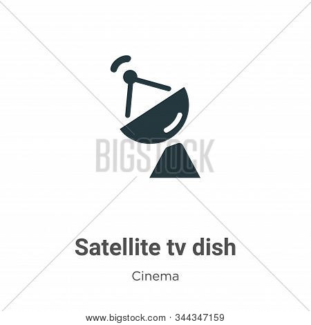 Satellite tv dish icon isolated on white background from cinema collection. Satellite tv dish icon t