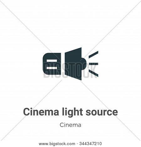 Cinema Light Source Vector Icon On White Background. Flat Vector Cinema Light Source Icon Symbol Sig