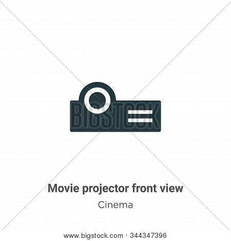 Movie projector front view icon isolated on white background from cinema collection. Movie projector