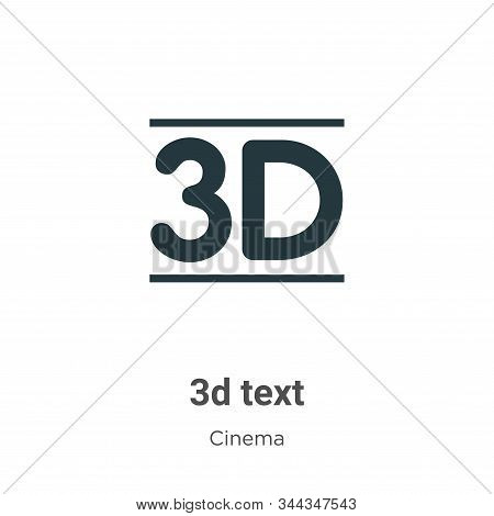 3d text icon isolated on white background from cinema collection. 3d text icon trendy and modern 3d