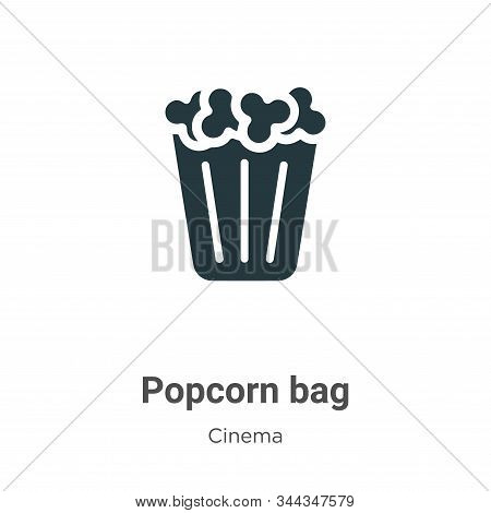 Popcorn bag icon isolated on white background from cinema collection. Popcorn bag icon trendy and mo