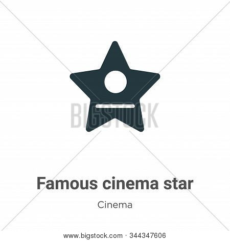 Famous Cinema Star Vector Icon On White Background. Flat Vector Famous Cinema Star Icon Symbol Sign