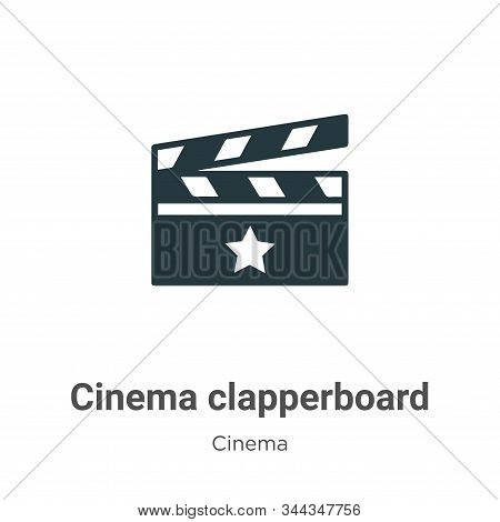 Cinema clapperboard icon isolated on white background from cinema collection. Cinema clapperboard ic