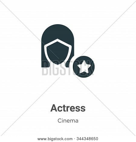 Actress icon isolated on white background from cinema collection. Actress icon trendy and modern Act