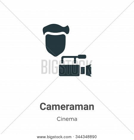 Cameraman Vector Icon On White Background. Flat Vector Cameraman Icon Symbol Sign From Modern Cinema