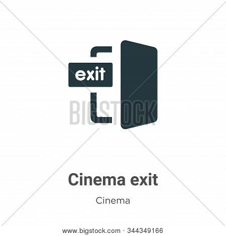 Cinema exit icon isolated on white background from cinema collection. Cinema exit icon trendy and mo