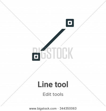 Line tool icon isolated on white background from edit tools collection. Line tool icon trendy and mo