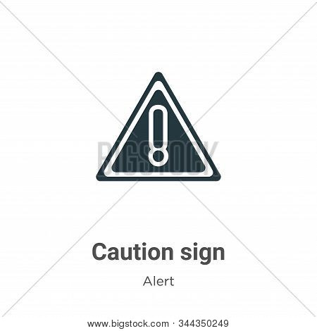 Caution sign icon isolated on white background from alert collection. Caution sign icon trendy and m