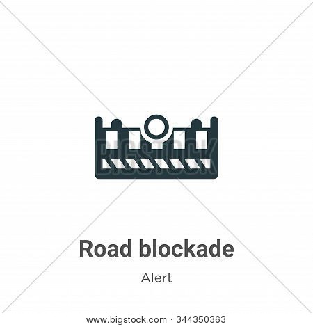 Road blockade icon isolated on white background from alert collection. Road blockade icon trendy and