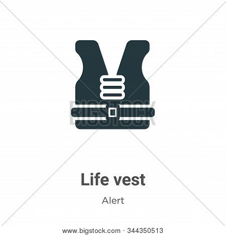 Life vest icon isolated on white background from alert collection. Life vest icon trendy and modern