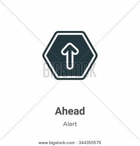Ahead icon isolated on white background from alert collection. Ahead icon trendy and modern Ahead sy
