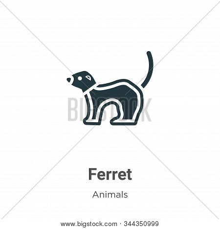 Ferret icon isolated on white background from animals collection. Ferret icon trendy and modern Ferr