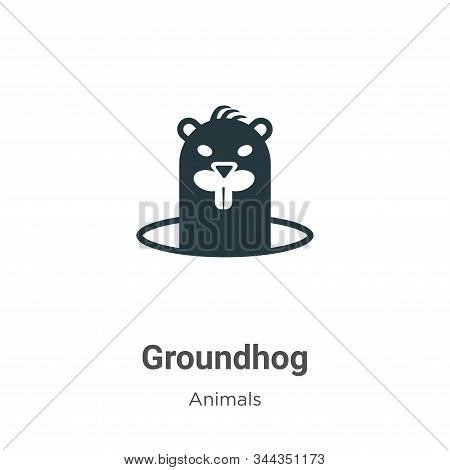 Groundhog icon isolated on white background from animals collection. Groundhog icon trendy and moder