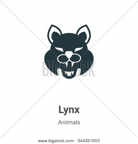 Lynx icon isolated on white background from animals collection. Lynx icon trendy and modern Lynx sym
