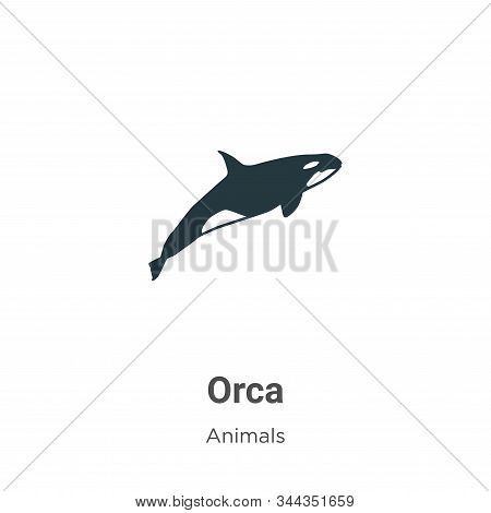 Orca Vector Icon On White Background. Flat Vector Orca Icon Symbol Sign From Modern Animals Collecti