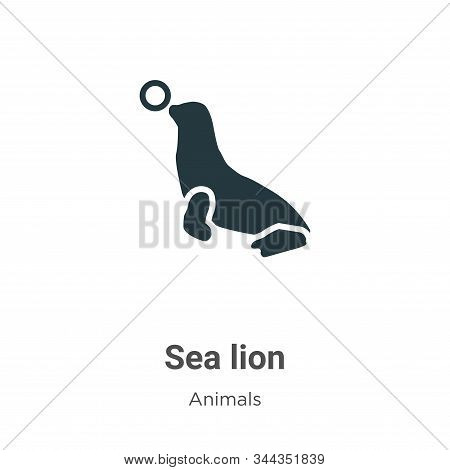 Sea Lion Vector Icon On White Background. Flat Vector Sea Lion Icon Symbol Sign From Modern Animals