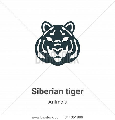 Siberian tiger icon isolated on white background from animals collection. Siberian tiger icon trendy