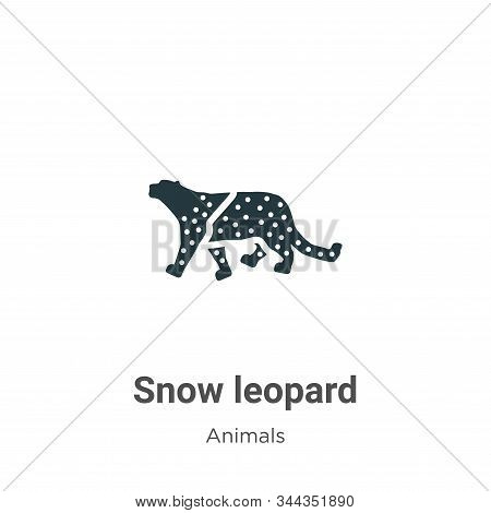 Snow leopard icon isolated on white background from animals collection. Snow leopard icon trendy and