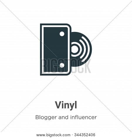Vinyl icon isolated on white background from blogger and influencer collection. Vinyl icon trendy an