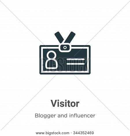 Visitor icon isolated on white background from blogger and influencer collection. Visitor icon trend