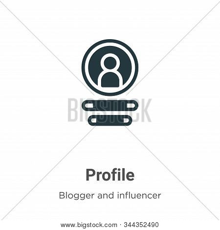 Profile icon isolated on white background from blogger and influencer collection. Profile icon trend