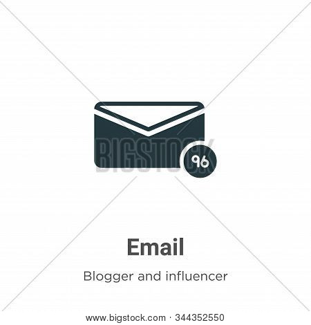 Email icon isolated on white background from blogger and influencer collection. Email icon trendy an