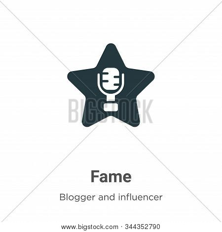 Fame icon isolated on white background from blogger and influencer collection. Fame icon trendy and