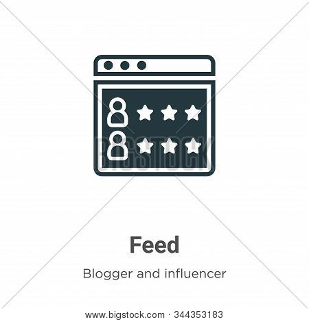 Feed icon isolated on white background from blogger and influencer collection. Feed icon trendy and