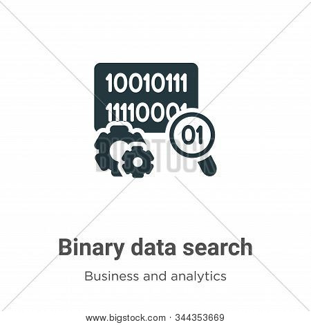 Binary data search icon isolated on white background from business and analytics collection. Binary
