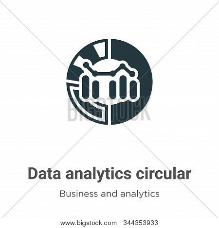 Data analytics circular icon isolated on white background from business and analytics collection. Da