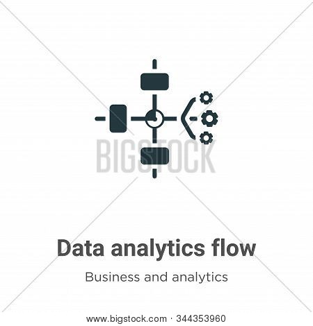 Data analytics flow icon isolated on white background from business and analytics collection. Data a
