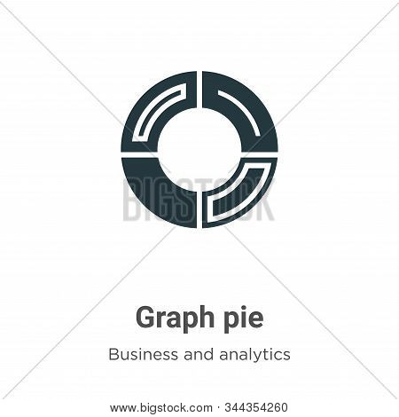Graph pie icon isolated on white background from business and analytics collection. Graph pie icon t