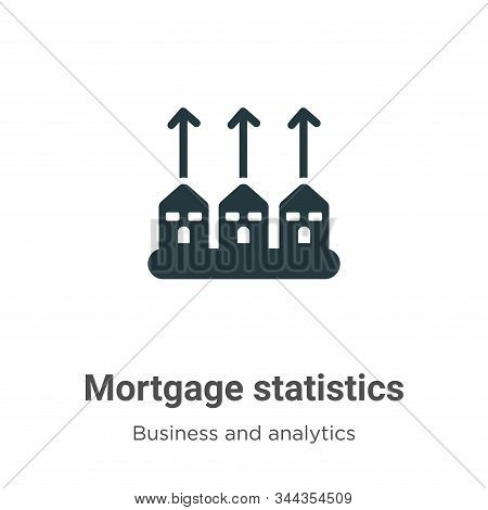Mortgage Statistics Vector Icon On White Background. Flat Vector Mortgage Statistics Icon Symbol Sig