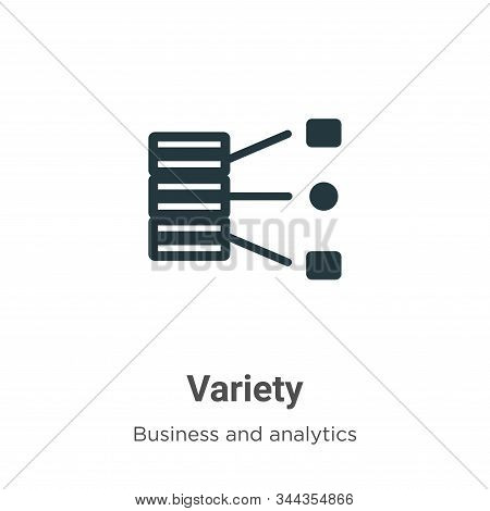 Variety Vector Icon On White Background. Flat Vector Variety Icon Symbol Sign From Modern Business A