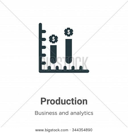 Production icon isolated on white background from business collection. Production icon trendy and mo