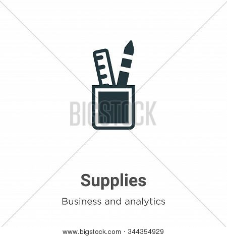 Supplies icon isolated on white background from business collection. Supplies icon trendy and modern