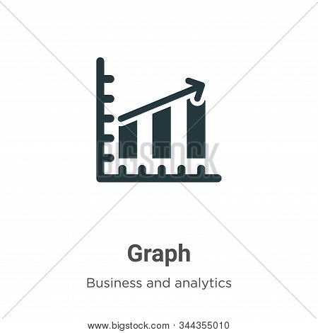 Graph icon isolated on white background from business collection. Graph icon trendy and modern Graph