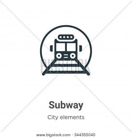 Subway icon isolated on white background from city elements collection. Subway icon trendy and moder
