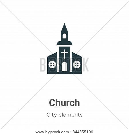 Church icon isolated on white background from city elements collection. Church icon trendy and moder