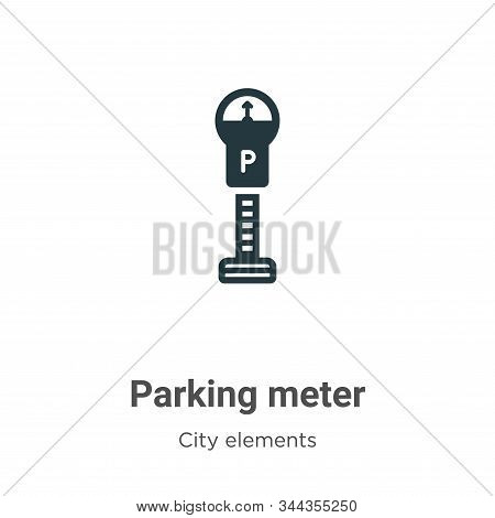 Parking meter icon isolated on white background from city elements collection. Parking meter icon tr