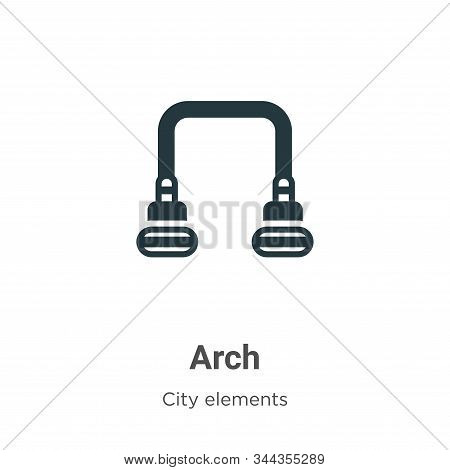 Arch Vector Icon On White Background. Flat Vector Arch Icon Symbol Sign From Modern City Elements Co