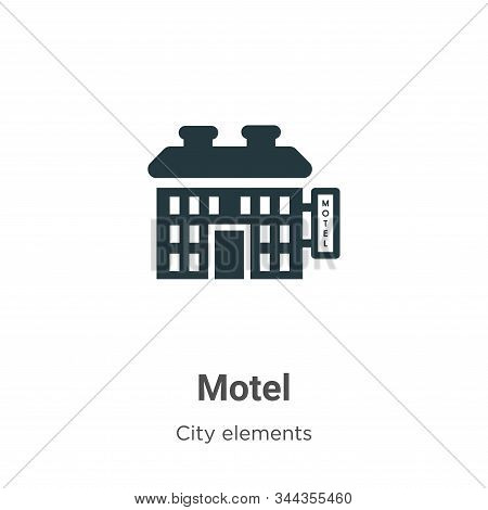 Motel icon isolated on white background from city elements collection. Motel icon trendy and modern