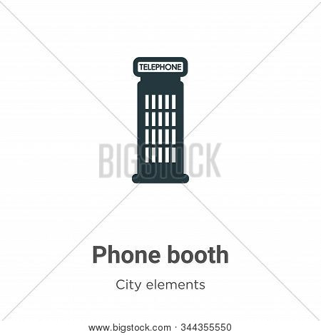 Phone Booth Vector Icon On White Background. Flat Vector Phone Booth Icon Symbol Sign From Modern Ci
